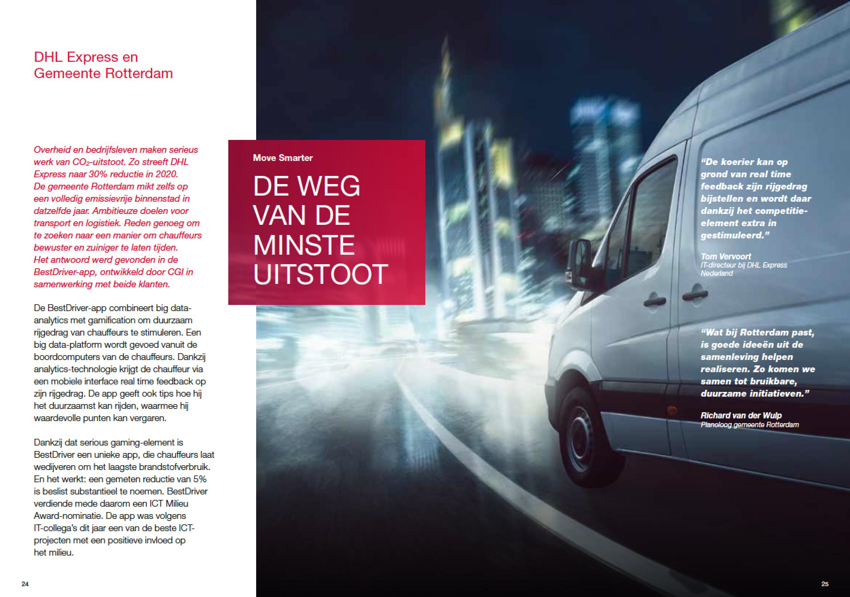 DHL en gemeente Rotterdam maken werk van uitstootreductie